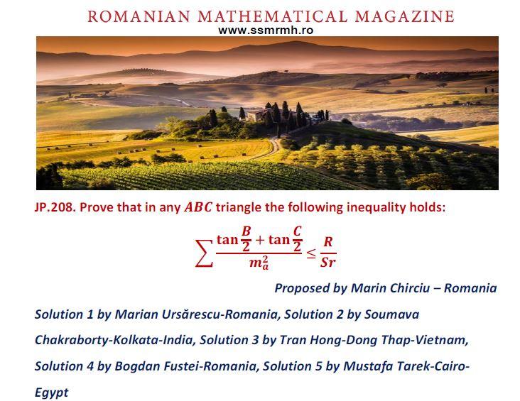 SOLUTION JP208-RMM AUTUMN EDITION 2019 – Romanian